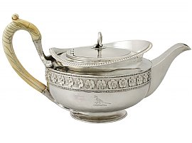 antique silver teapots