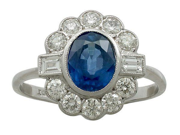 contemporary sapphire ring