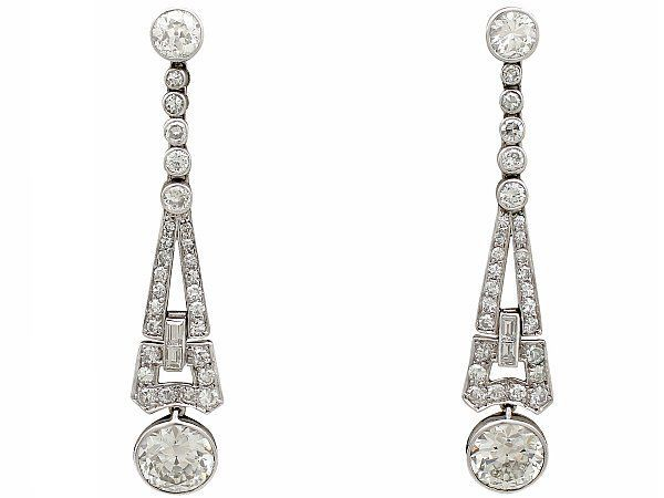 1920s Diamond Drop Earrings