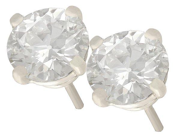 Diamond Pear Stud Earrings
