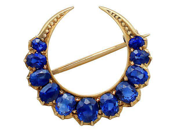 Antique Sapphire Brooch