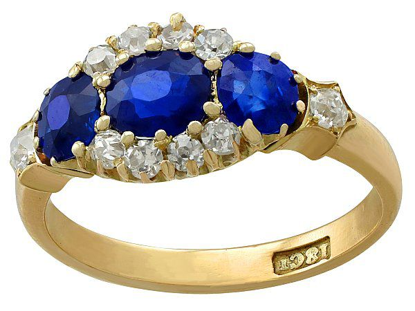 Antique Blue Sapphire Ring