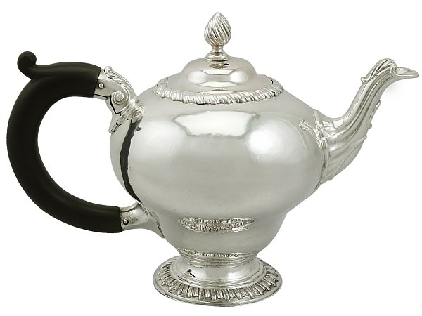 The beauty of silver teapots