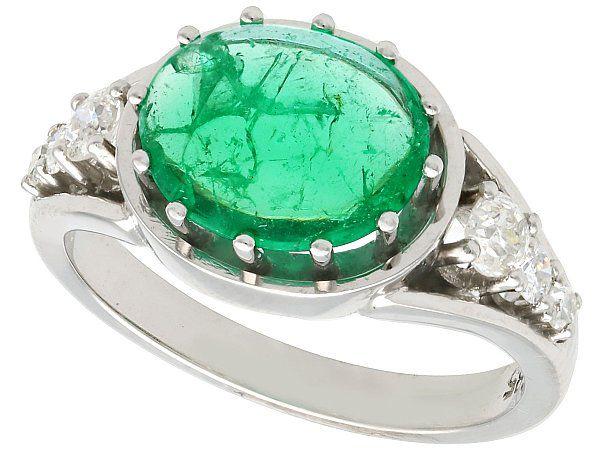 antique emerald men's rings