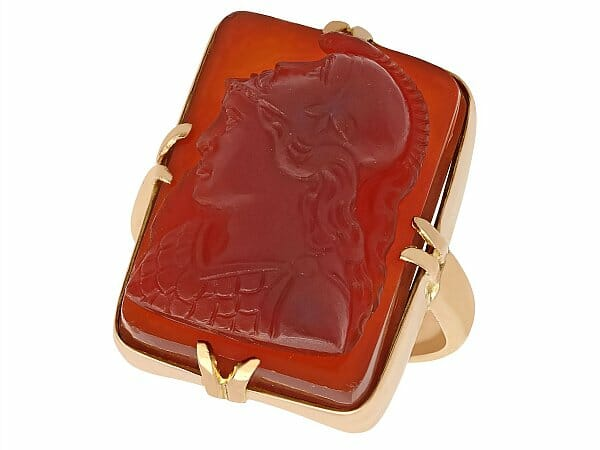agate 15ct yellow gold cameo