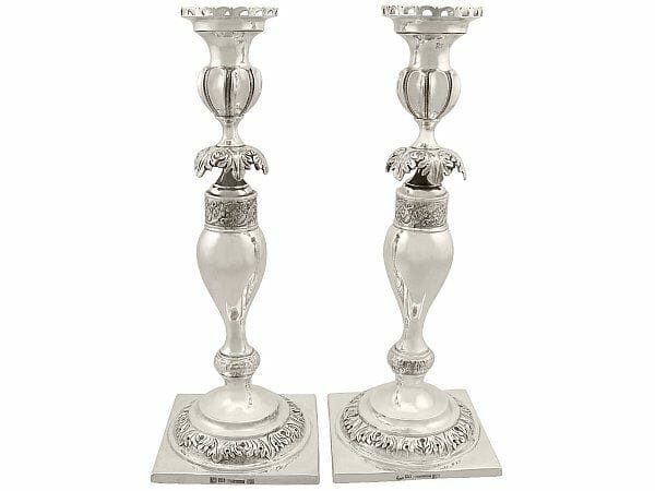 russian shabbat candlesticks antique circa 1860