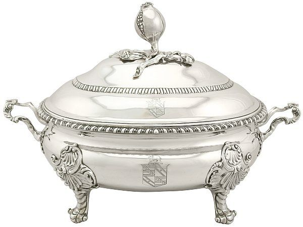 antique silver dishes