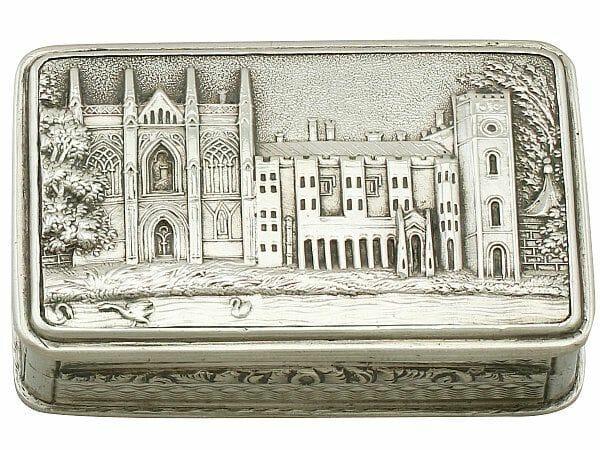 Sterling silver vinaigrette antique William IV