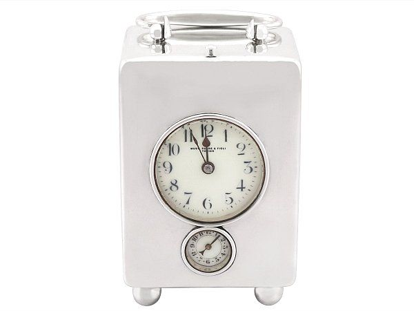 Silver Repeater Clock