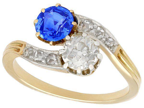 Yellow Gold Sapphire Jewellery