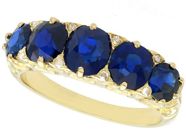 Top Sapphire Ring Designs with Yellow Gold