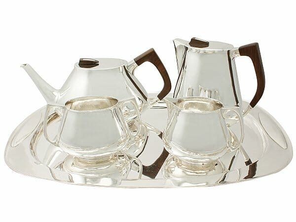 sterling silver four piece tea and coffee service