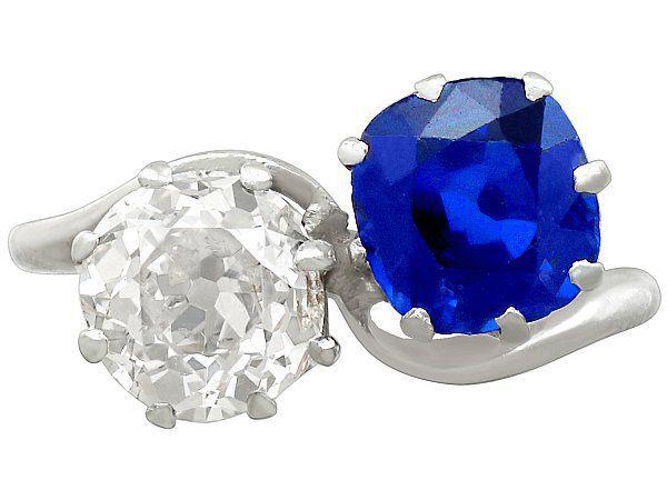 Antique Sapphire Twist Ring