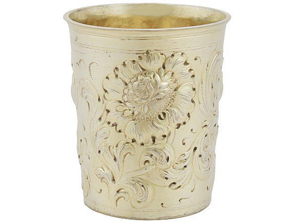 German Silver Gilt Beaker