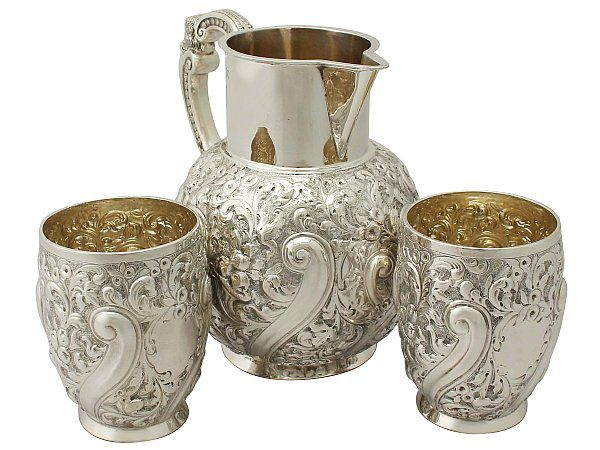 Victorian Jug and Beaker Set
