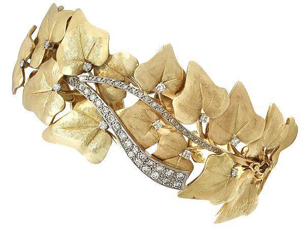 antique leaf bangle