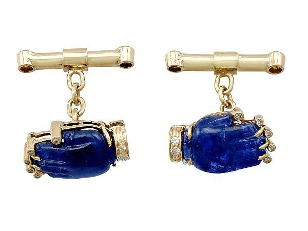 Sapphire and Diamond Cufflinks