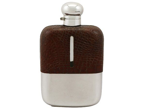 Crocodile Hip Flask