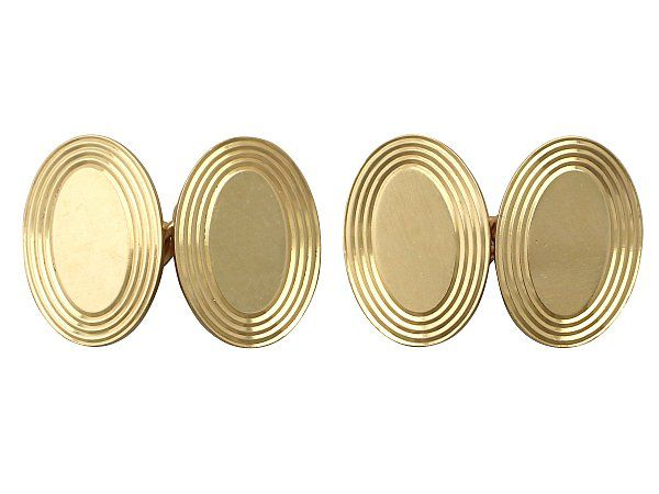 gents gold cufflinks