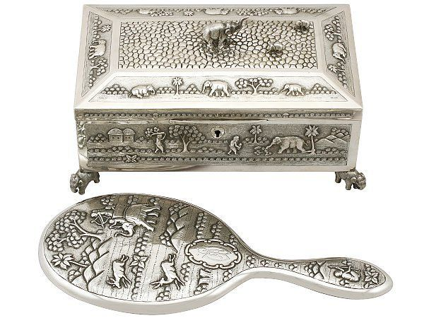 Indian dressing table silver