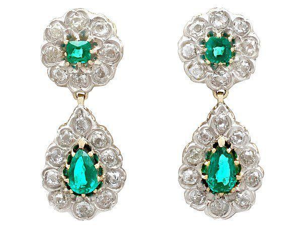 antique emerald earrings
