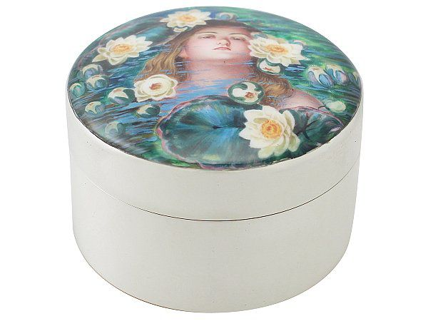 silver and enamel box