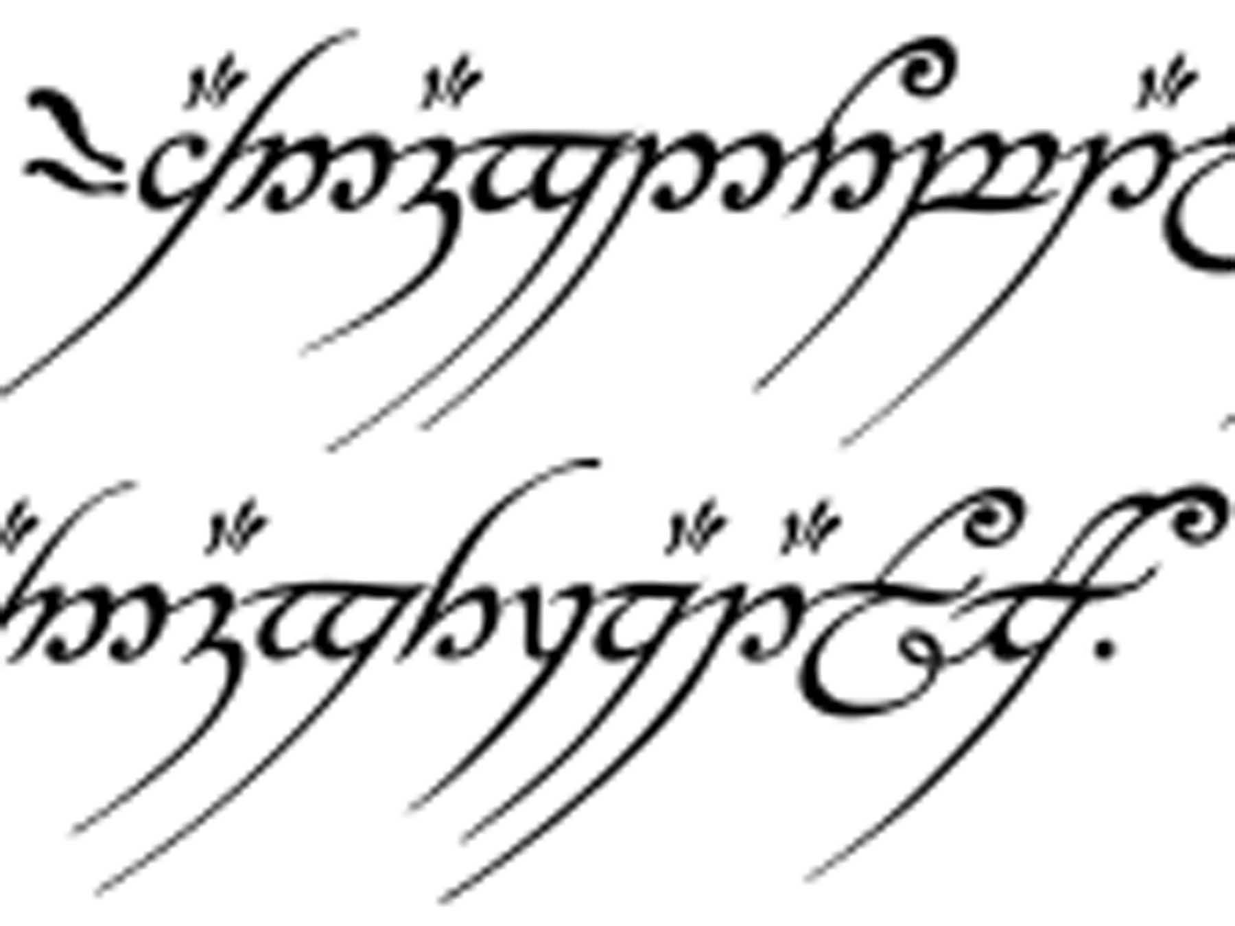 Inscription on the One Ring