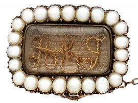 History of Mourning Brooch