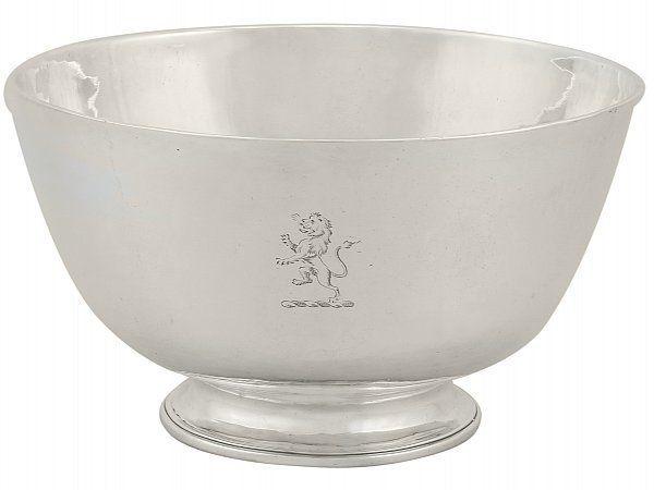 Irish silver bowl