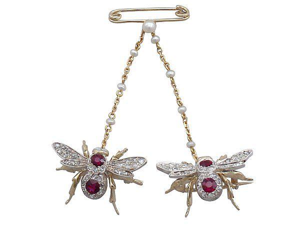 Opal Victorian Bee Brooch