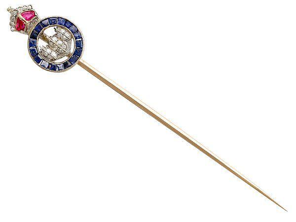 antique sweetheart brooch