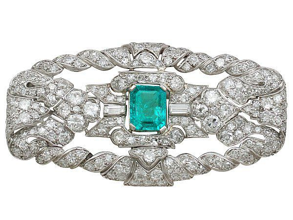 antique emerald brooch