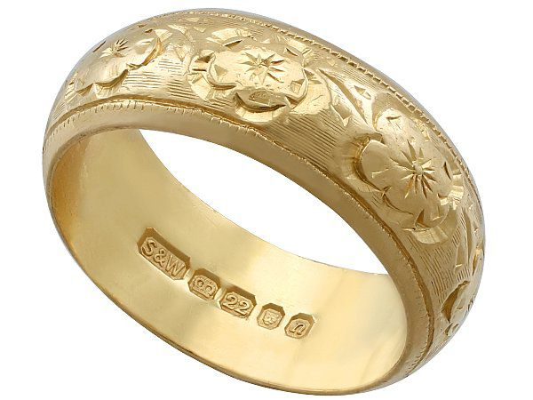 Gold Decorated Wedding Ring