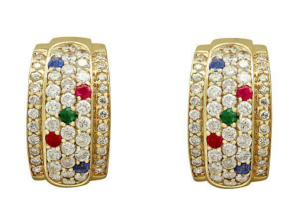 Cuff hoop earrings