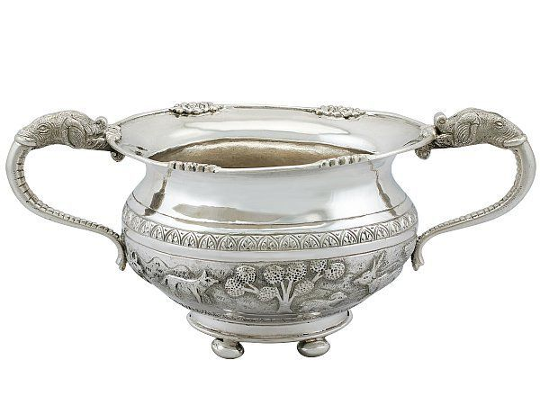Indian silver bowl