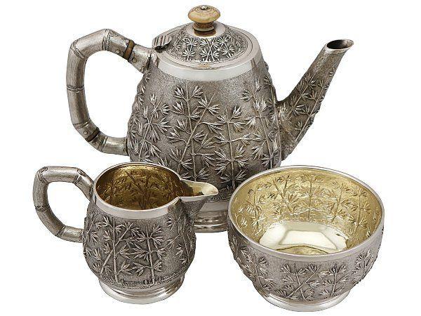 Indian silver tea service