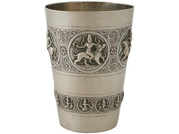 Indian silver beaker