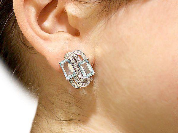 Vintage White Gold Earrings