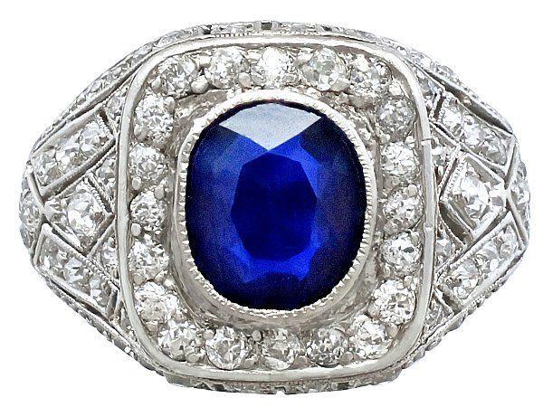 Men's Sapphire and Diamond Ring