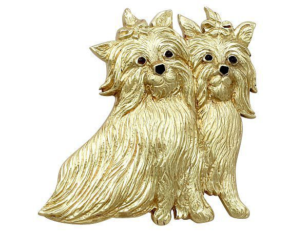 Terrier Brooch