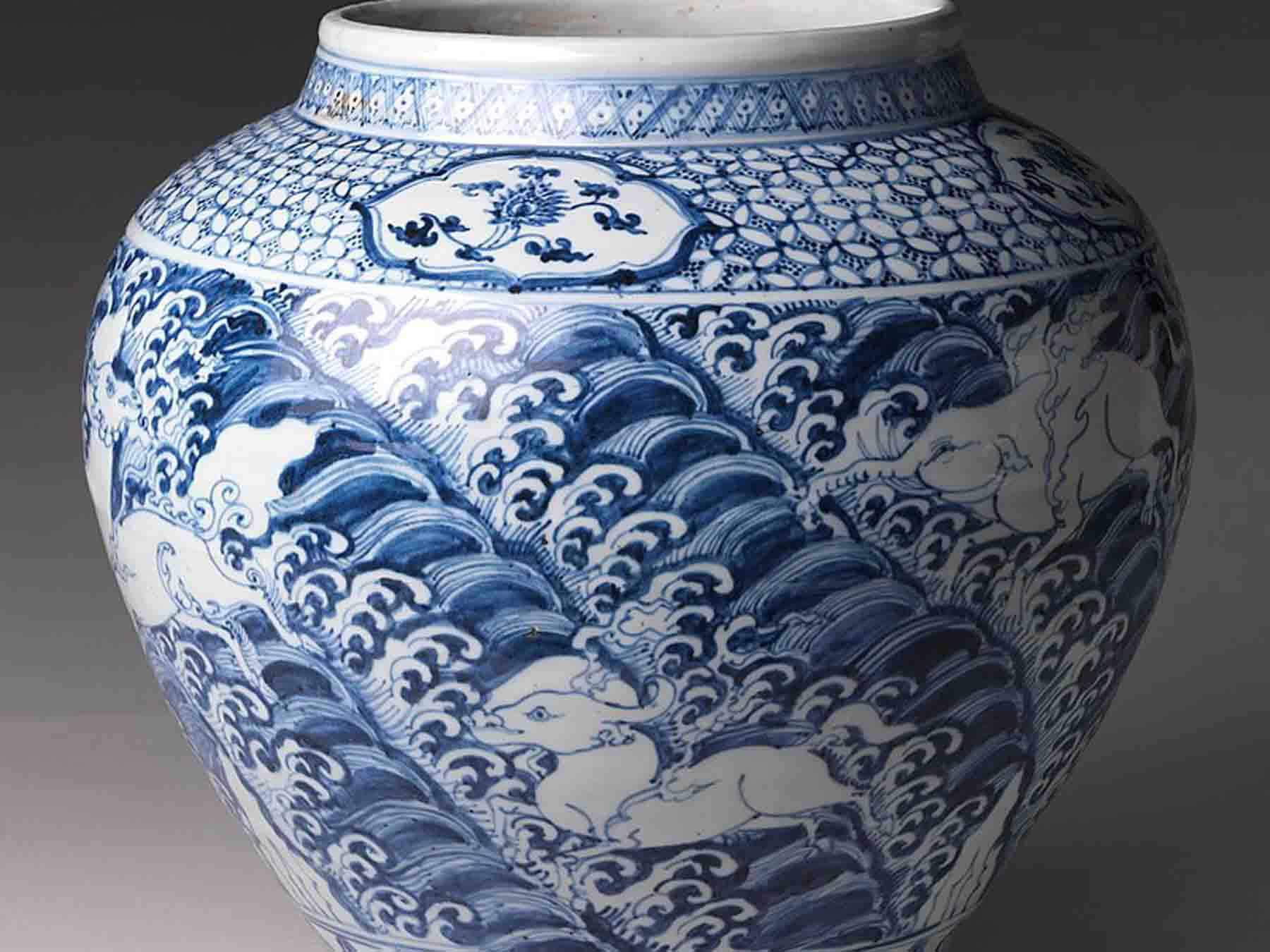 Blue Willow China Vase