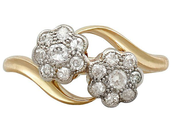 antique diamond floral ring