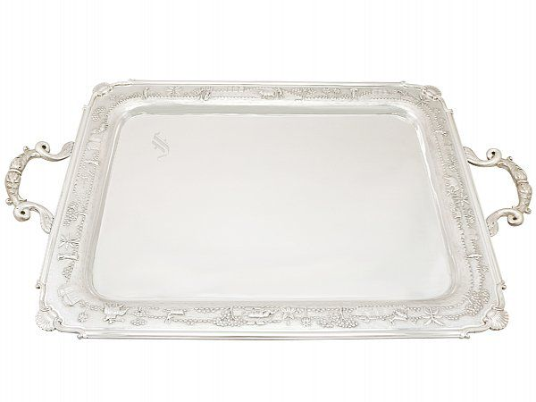 Indian Silver Tea Tray