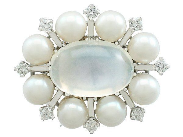 Moonstone Brooch