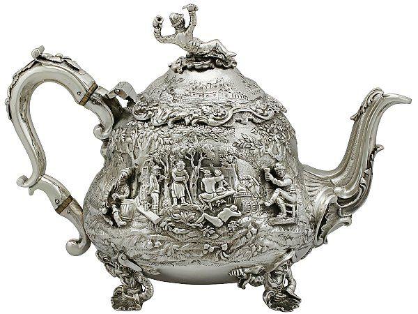 antique george iv teapot