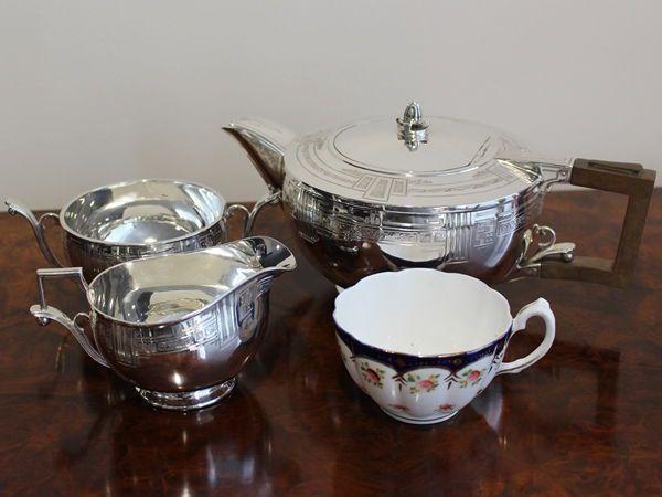 antique silver teaset