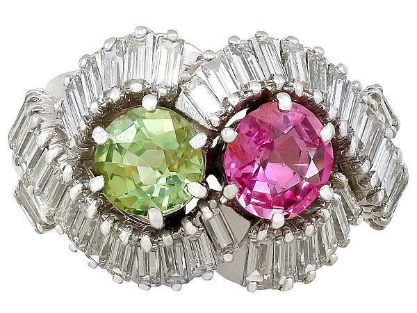Pink and Green Sapphire