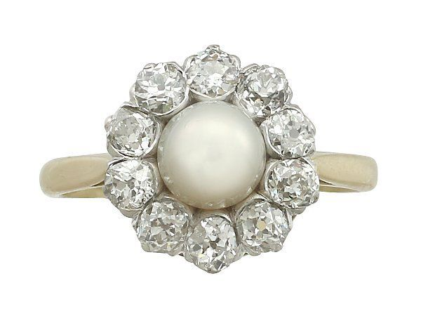 antique cultured pearl ring
