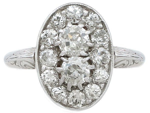 diamond oval ring