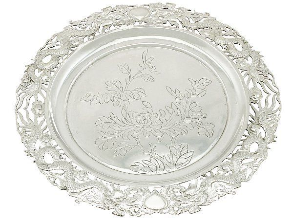 chinese silver salver